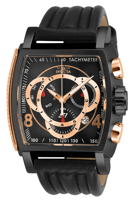 Invicta Men's 27945 S1 Rally Quartz Multifunction Black, Rose Gold Dial Watch