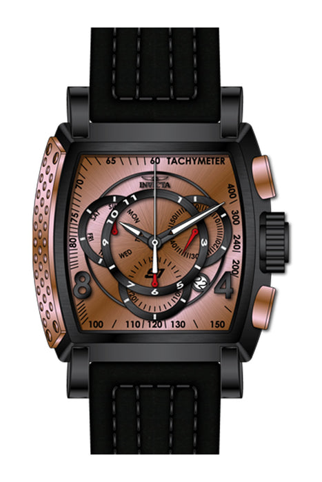 Invicta Men's 27946 S1 Rally Quartz Multifunction Rose Gold, Black Dial Watch