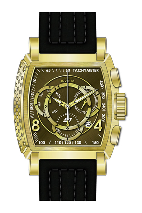Invicta Men's 27953 S1 Rally Quartz Multifunction Olive Green, Gold Dial Watch