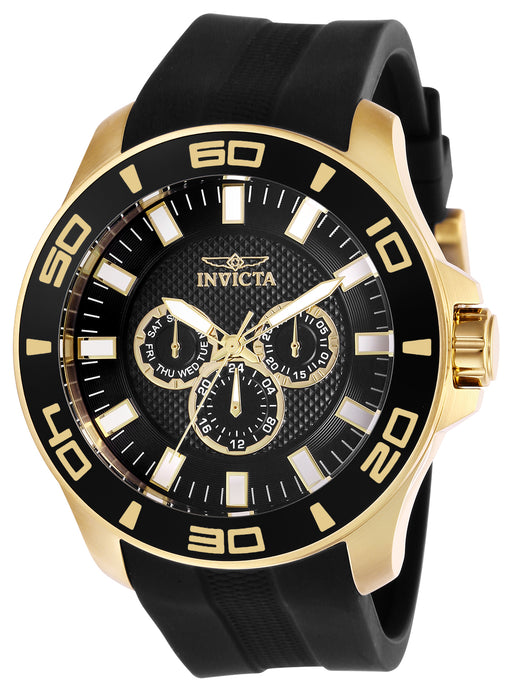 Invicta Men's 28001 Pro Diver Quartz Chronograph Black Dial  Watch