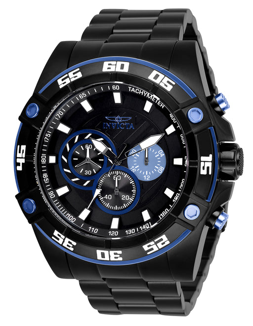 Invicta Men's 28022 Speedway Quartz Chronograph Black, Blue Dial Watch