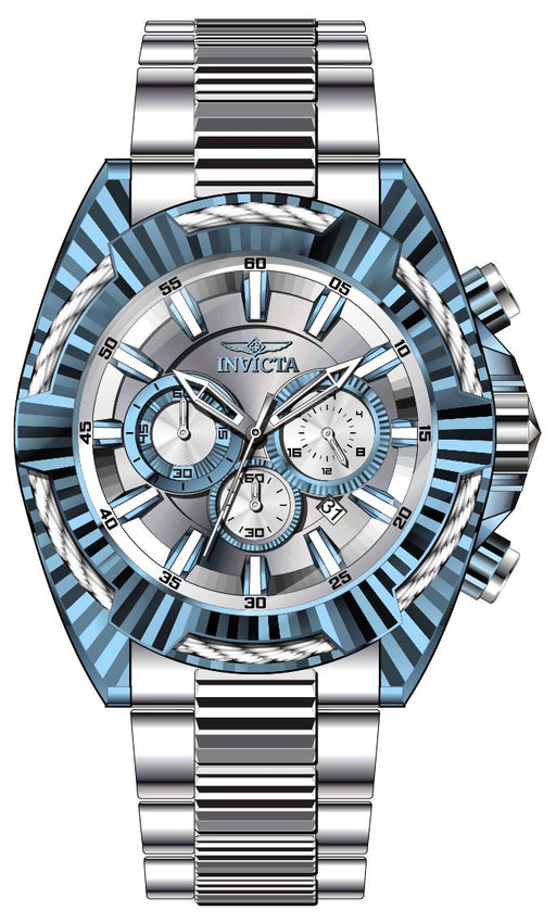 Invicta Men's 28041 Bolt Quartz Chronograph Silver, Light Blue Dial Watch