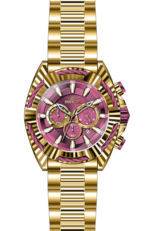 Invicta Men's 28044 Bolt Quartz Chronograph Gold, Red Dial Watch