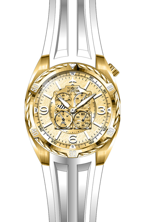 Invicta Men's 28080 Aviator Quartz Multifunction Gold Dial Watch