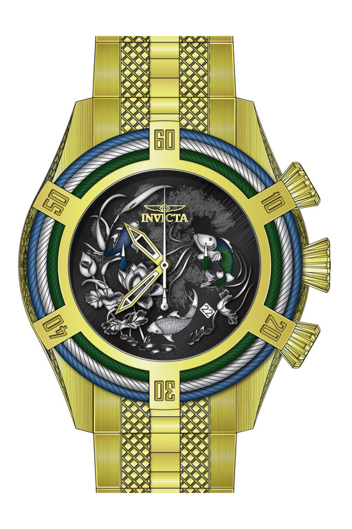 Invicta Men's 28203 Bolt Quartz 3 Hand Black, Blue, Green Dial Watch