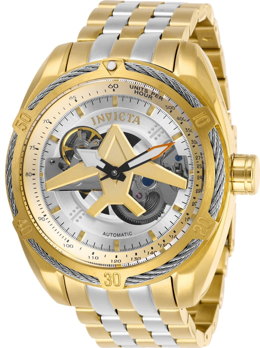 Invicta Men's 28210 Aviator Automatic 3 Hand Silver Dial Watch