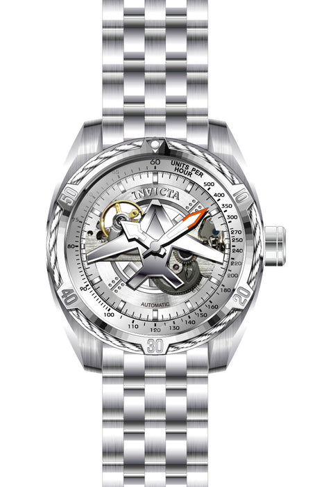 Invicta Men's 28213 Aviator Automatic 3 Hand Silver Dial Watch