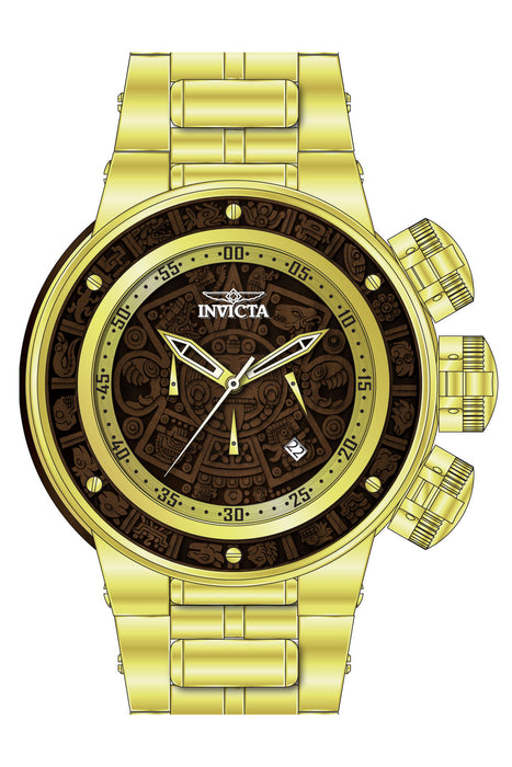 Invicta Men's 28251 Subaqua Quartz Chronograph Brown Wood, Gold Dial Watch