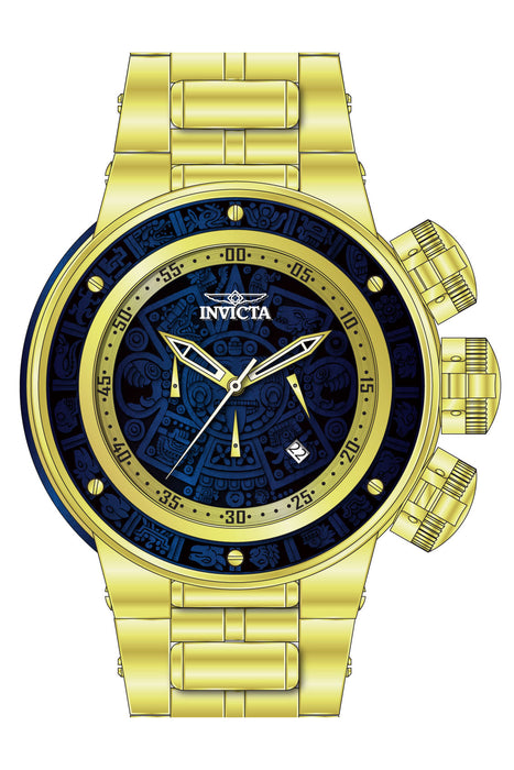 Invicta Men's 28252 Subaqua Quartz Chronograph Gold, Blue Wood Dial Watch