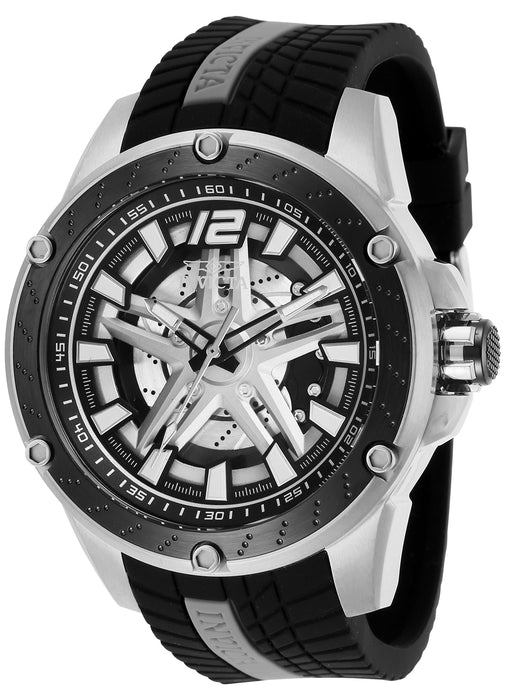 Invicta Men's 28301 S1 Rally Automatic 3 Hand Silver Dial Watch
