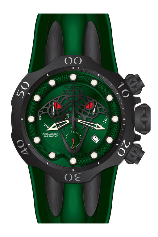 Invicta Men's 28386 Venom Quartz Chronograph Green, Black Dial Watch