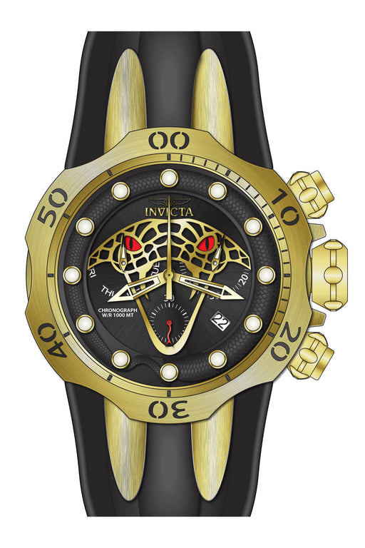 Invicta Men's 28387 Venom Quartz Chronograph Black, Gold Dial Watch