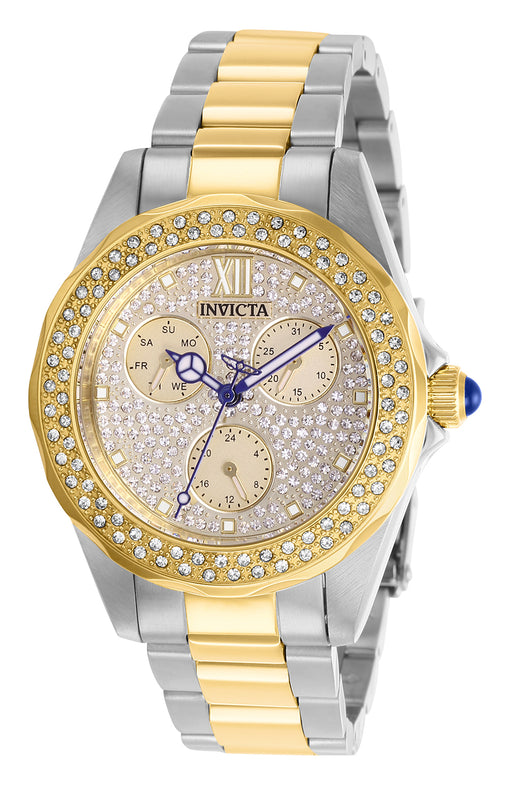 Invicta Women's 28433 Angel Quartz Multifunction Pave, White Dial  Watch