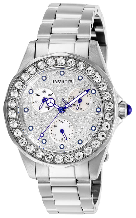 Invicta Women's 28457 Angel Quartz Chronograph Pave, White Dial Watch