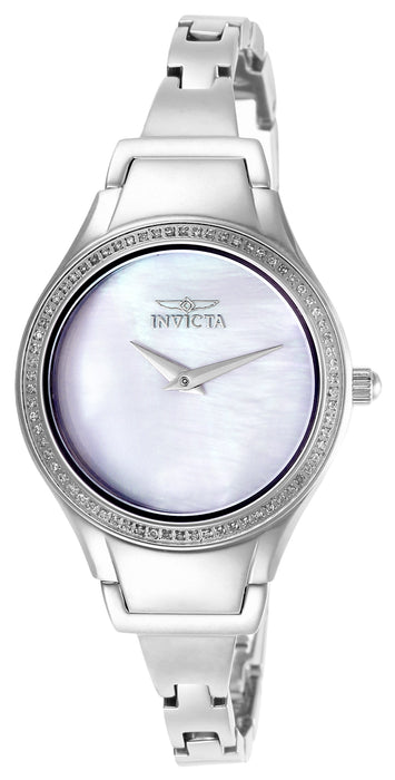 Invicta Women's 28504 Angel Quartz 3 Hand Silver Dial Watch