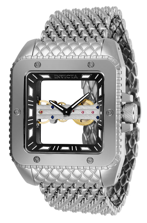 Invicta Men's 28507 Cuadro Mechanical 2 Hand Black Dial Watch