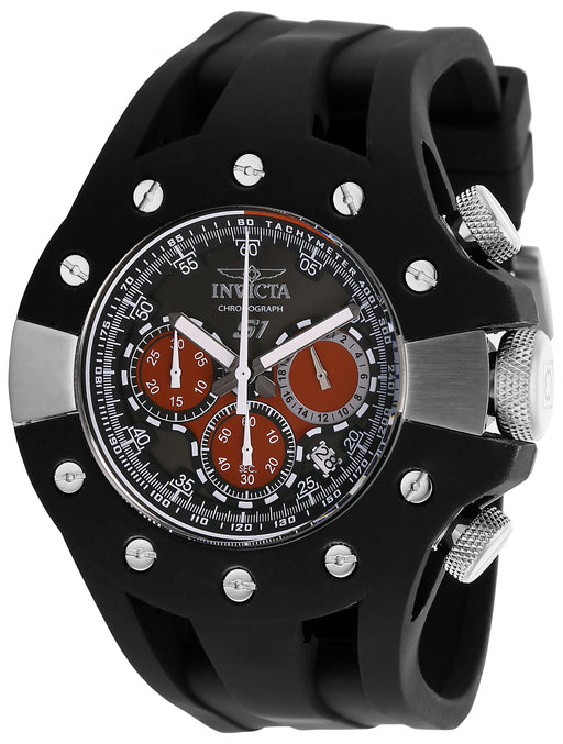 Invicta Men's 28564 S1 Rally Quartz 3 Hand Black, Red Dial Watch