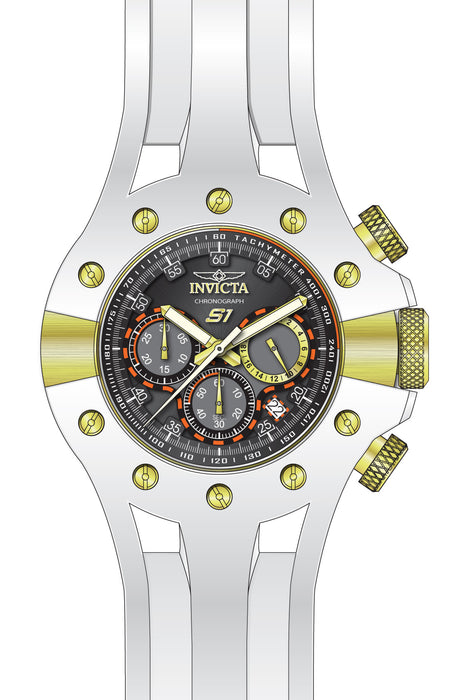 Invicta Men's 28572 S1 Rally Quartz 3 Hand Grey, Black Dial Watch