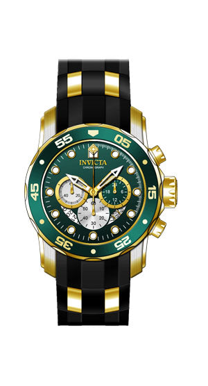 Invicta Men's 28724 Pro Diver Quartz Chronograph Green Dial Watch