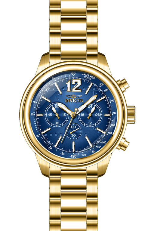 Invicta Men's 28896 Aviator Quartz Chronograph Blue Dial Watch