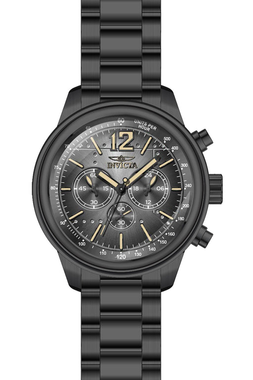 Invicta Men's 28899 Aviator Quartz Chronograph Black Dial Watch