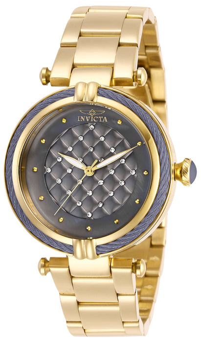 Invicta Lady 28929 Bolt Quartz 3 Hand Gunmetal Dial Watch