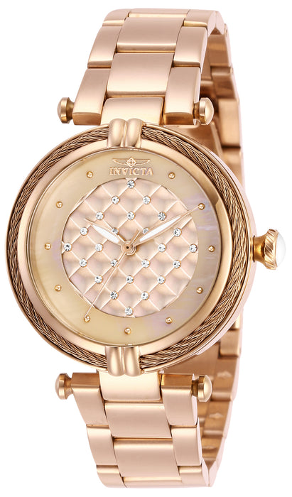 Invicta Lady 28933 Bolt Quartz 3 Hand Rose Gold Dial Watch