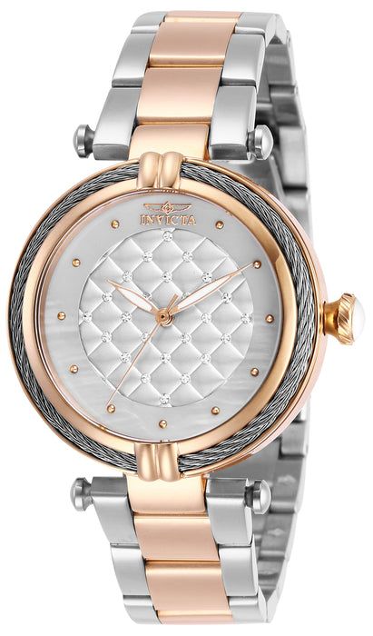 Invicta Lady 28938 Bolt Quartz 3 Hand White Dial Watch