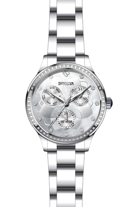 Invicta Lady 29090 Angel Quartz 3 Hand White Dial Watch