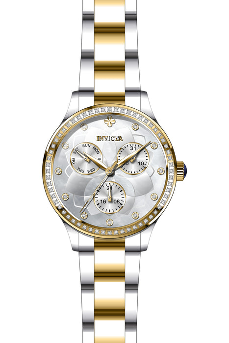 Invicta Lady 29099 Angel Quartz 3 Hand White Dial Watch