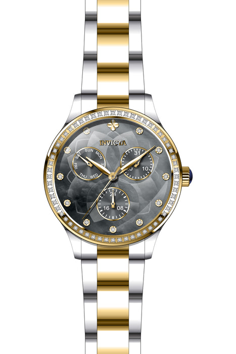 Invicta Lady 29102 Angel Quartz 3 Hand Gunmetal Dial Watch