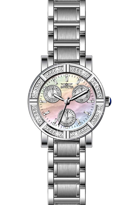 Invicta Lady 29113 Angel Quartz 3 Hand White Dial Watch