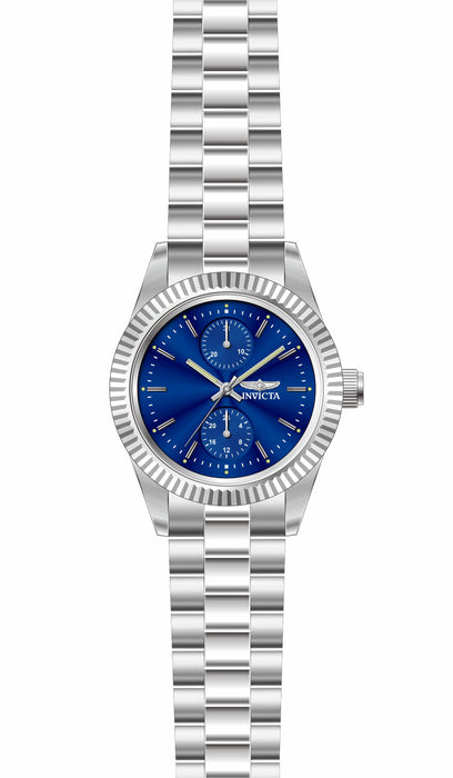 Invicta Lady 29438 Specialty Quartz 3 Hand Blue Dial Watch