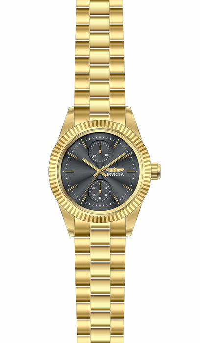 Invicta Lady 29444 Specialty Quartz 3 Hand Charcoal Dial Watch
