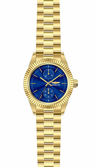 Invicta Lady 29446 Specialty Quartz 3 Hand Blue Dial Watch