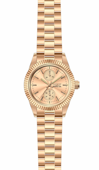 Invicta Lady 29450 Specialty Quartz 3 Hand Rose Gold Dial Watch