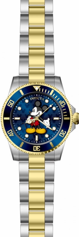 Invicta Women's 29674 Disney Quartz 3 Hand Blue Dial Watch