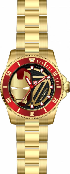 Invicta Men's 29678 Marvel Quartz 3 Hand Black Dial Watch