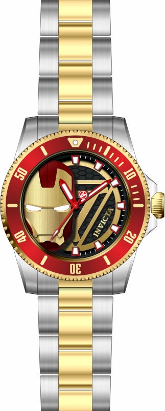 Invicta Men's 29679 Marvel Quartz 3 Hand Black Dial Watch