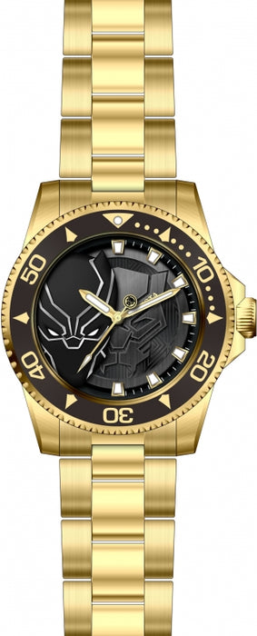 Invicta Men's 29686 Marvel Quartz 3 Hand Black Dial Watch
