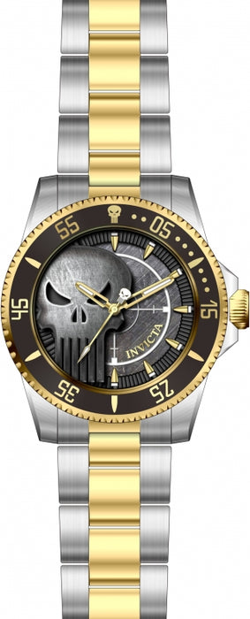 Invicta Men's 29695 Marvel Quartz 3 Hand Grey Dial Watch