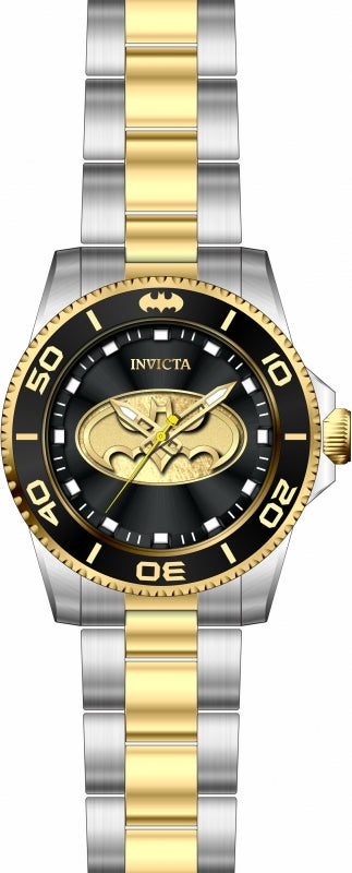 Invicta Men's 29697 DC Comics Quartz 3 Hand Black Dial Watch