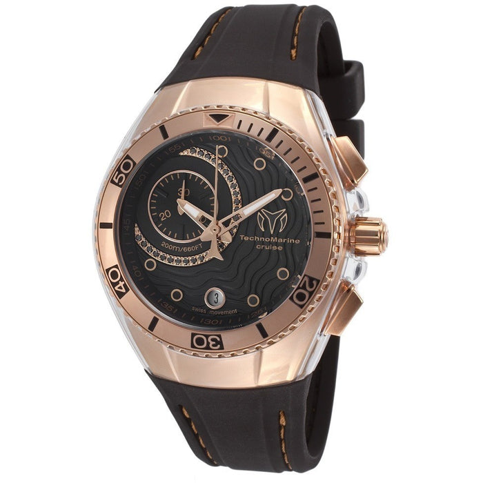 Technomarine Women's TM-114041 Cruise Analog Display Swiss Quartz Black Watch