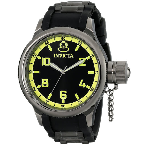 Invicta Men's 1440 Russian Diver Black Rubber Dial Watch