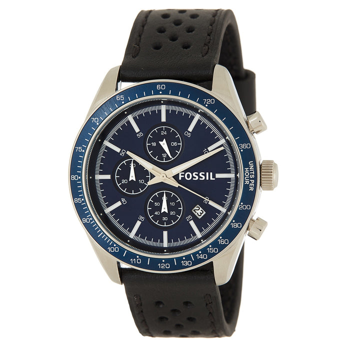 Fossil Men's Field Scout Chronograph Leather Strap Watch - BQ2065