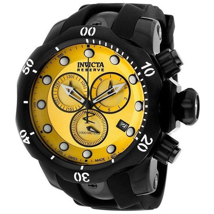 INVICTA 5736 Venom/Reserve Chronograph Yellow Dial Black Polyurethane Men's Watch
