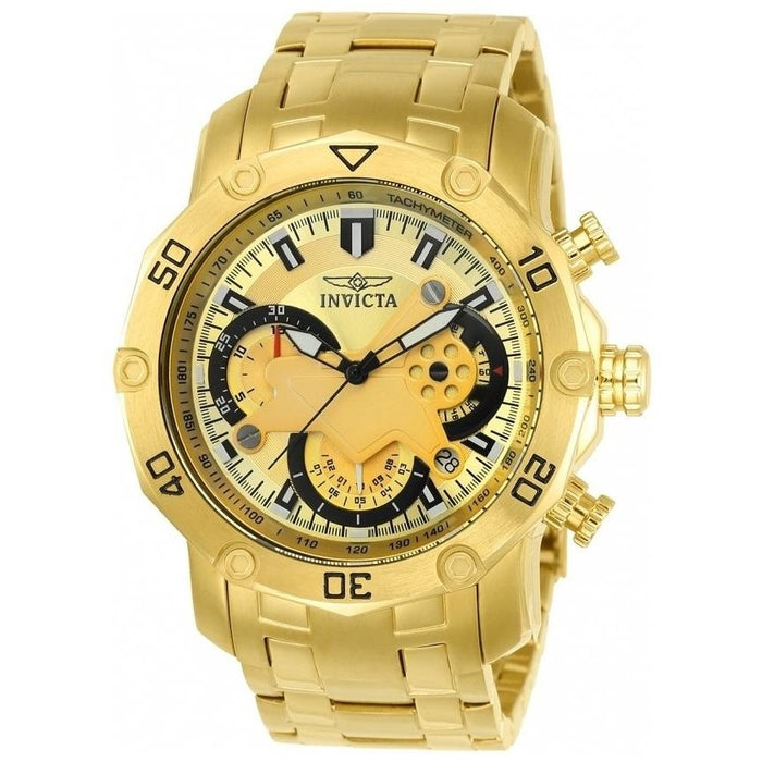 Invicta Men's Pro Diver Quartz Multifunction Gold Dial Watch 22761