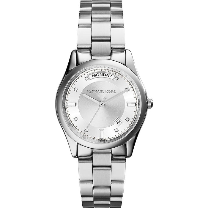 Michael Kors Ladies Colette Silver Tone Watch MK6067