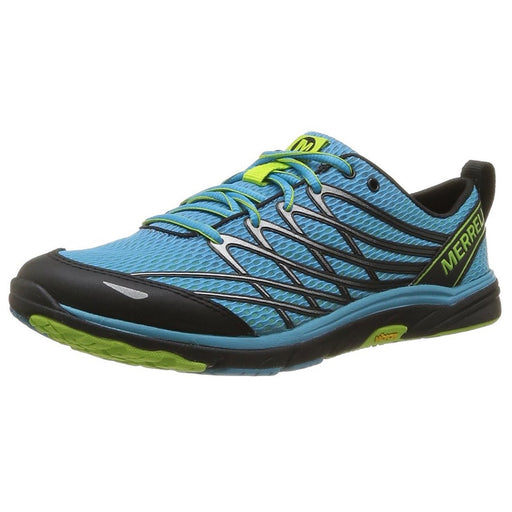 Merrell Men's Bare Access 3 Running Shoe,Horizon Blue/Lime