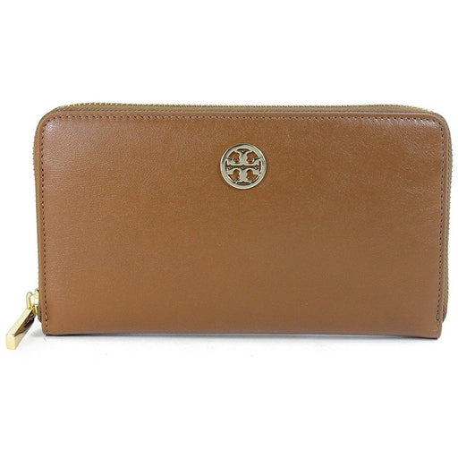 Tory Burch Luggage Brown Leather Dena Continental Zip Wallet